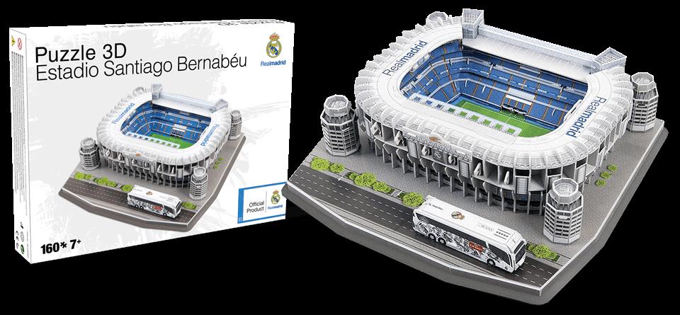 Puzzle 3D stade Santiago Bernabeu Real Madrid